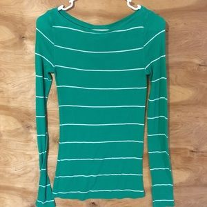 Bcbgmaxazria Ladies Small striped longsleeve shirt